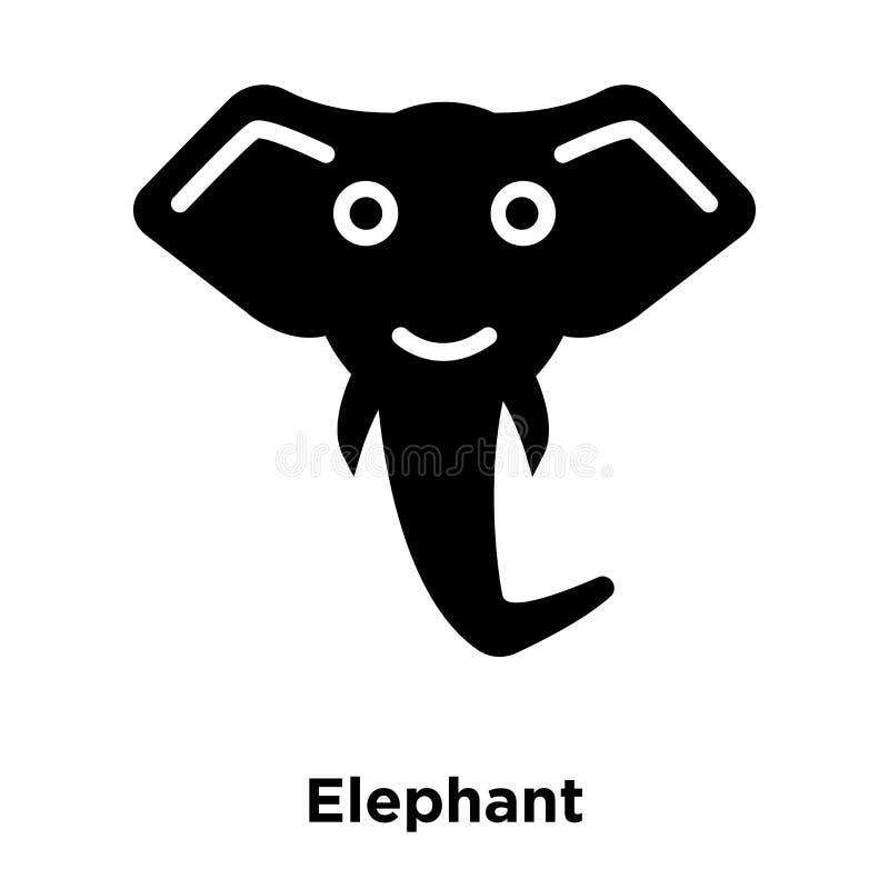Elefantikonenvektor lokalisiert auf weißem Hintergrund, Logokonzept stock abbildung