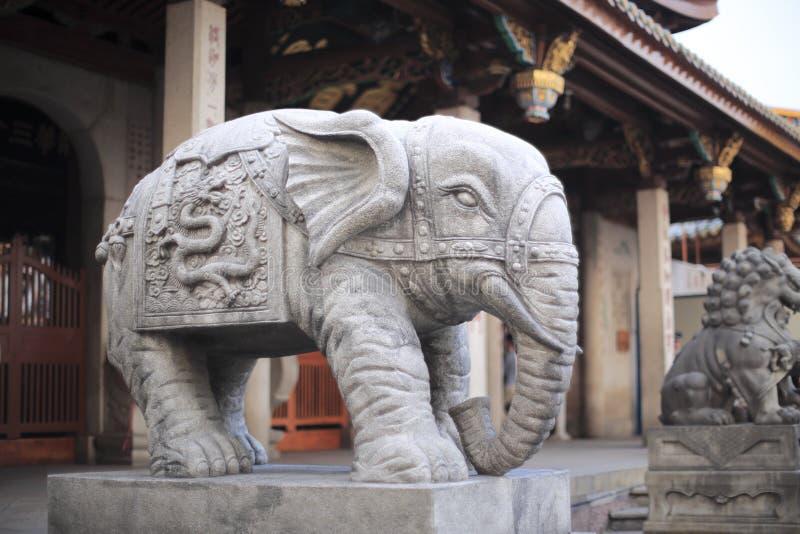Elefantingång av nanputuotemplet royaltyfria foton