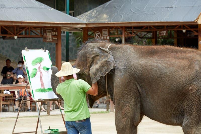 Elefantm?lning arkivbilder