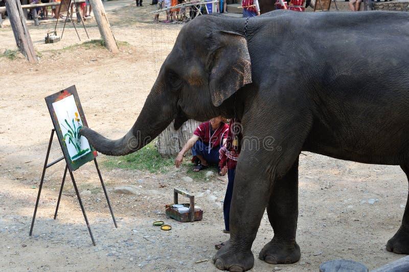 Elefantmalerei stockbild