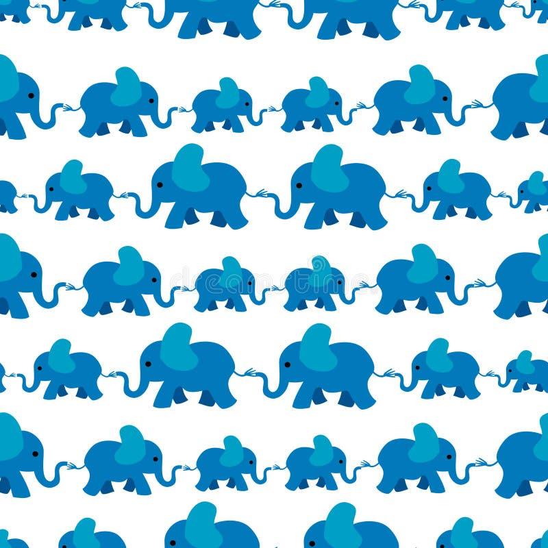 Elefantmuster stock abbildung