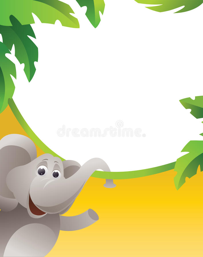 elefantram royaltyfri illustrationer