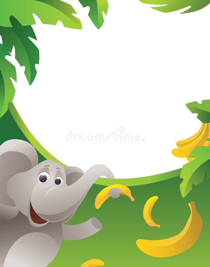 elefantram vektor illustrationer