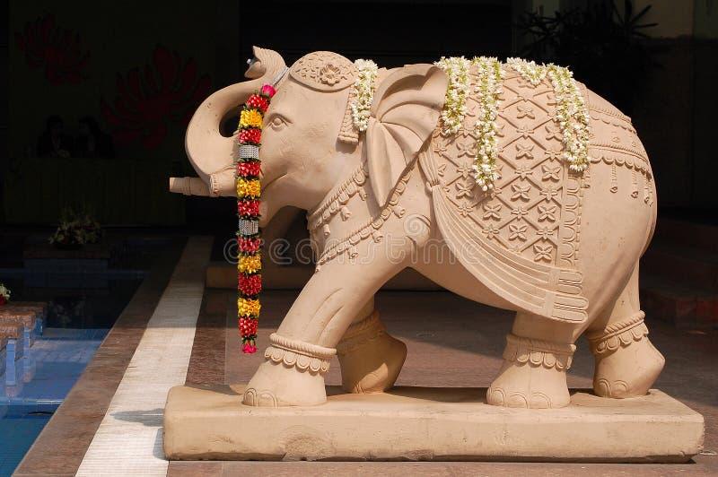 Elefantstatus in Indien stockfotos