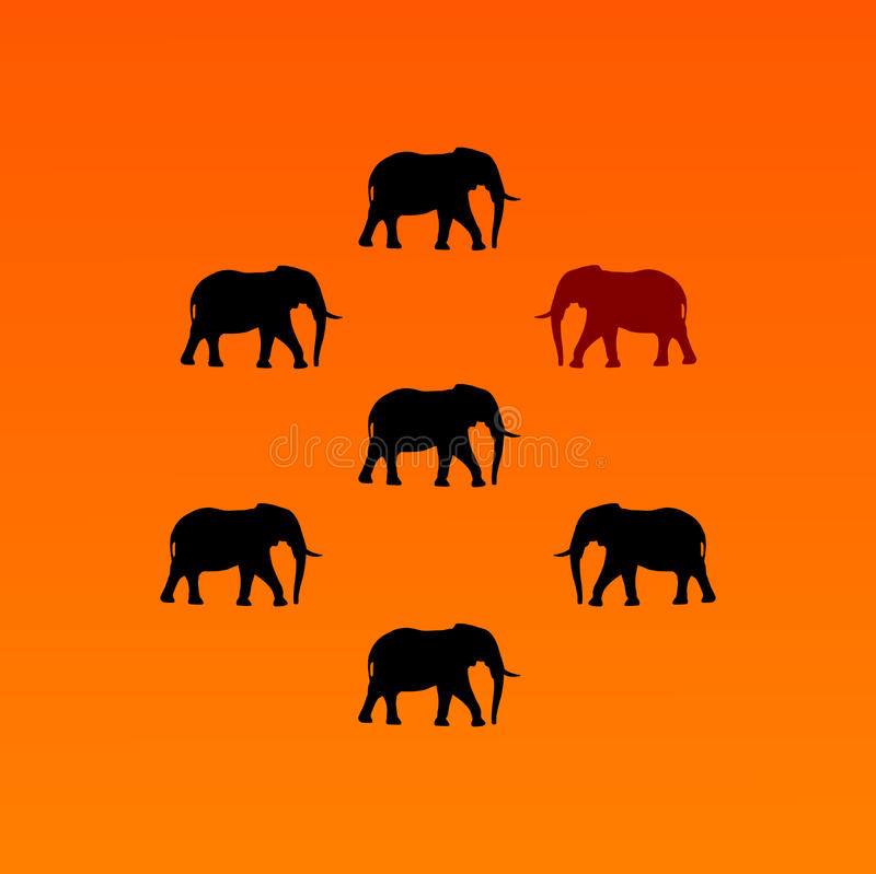 Elefantvektor lizenzfreie abbildung