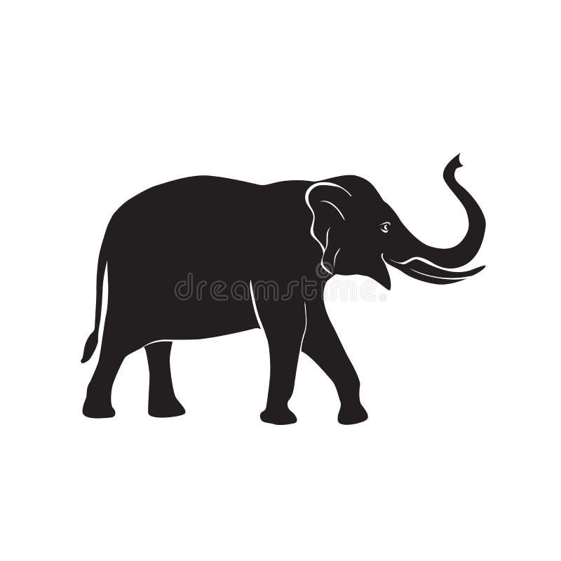 Elefantvektorsymbol stock illustrationer