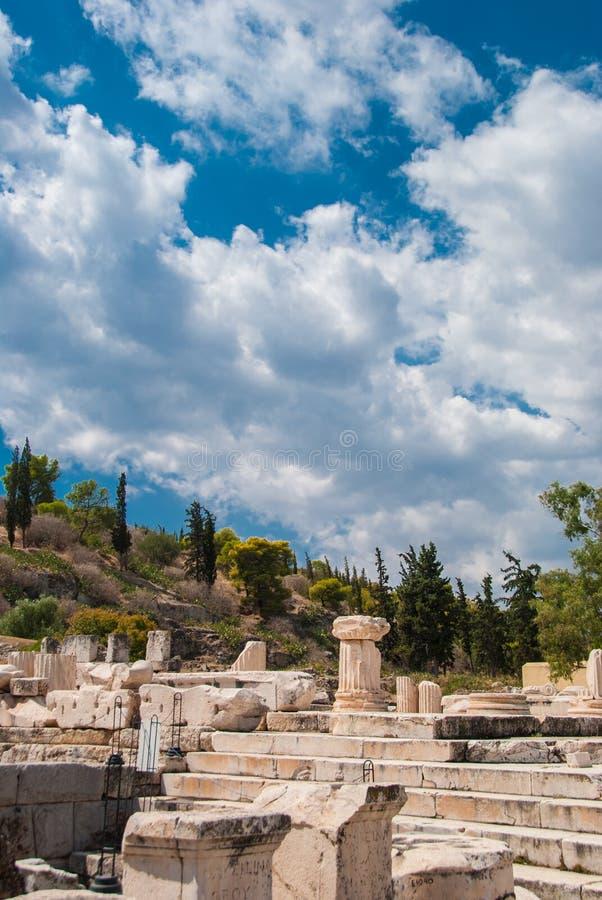 Elefsina, la posizione di un santuario acient dove i misteri di Elefsinian di misteri di Eleusinian hanno avuto luogo ogni anno i immagini stock
