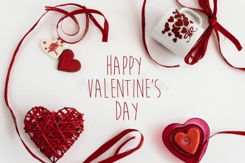 Eleganccy kierowi miłość elementy na białym tle, szczęśliwy valentine zdjęcie stock