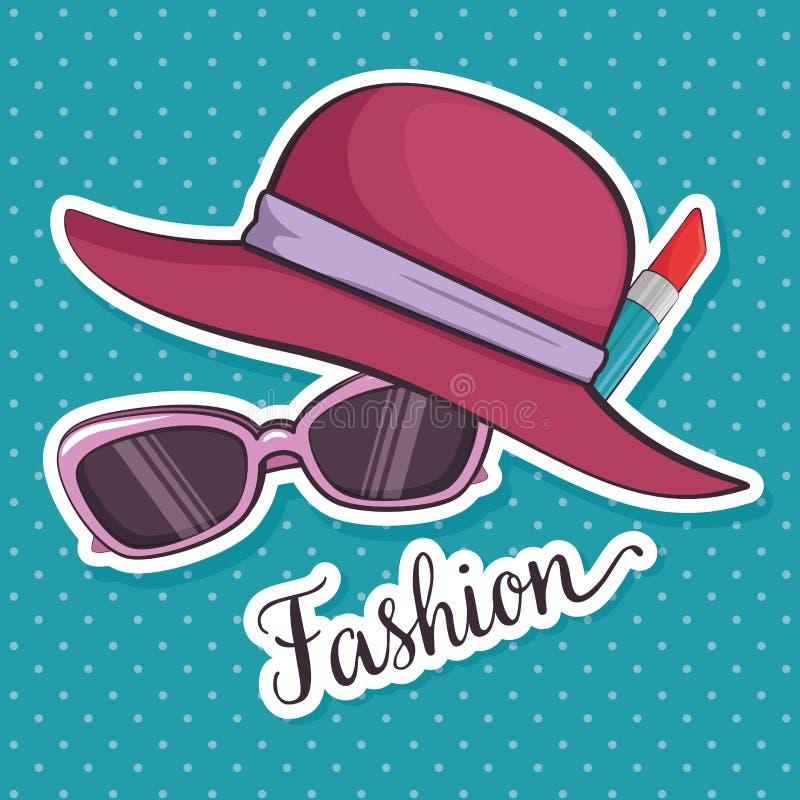 Eleganccy kobiety mody akcesoria ilustracja wektor