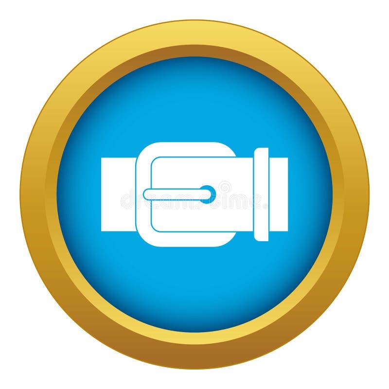 Eleganccy rzemienni spodnia popędzają ikona błękitnego wektor odizolowywającego ilustracji