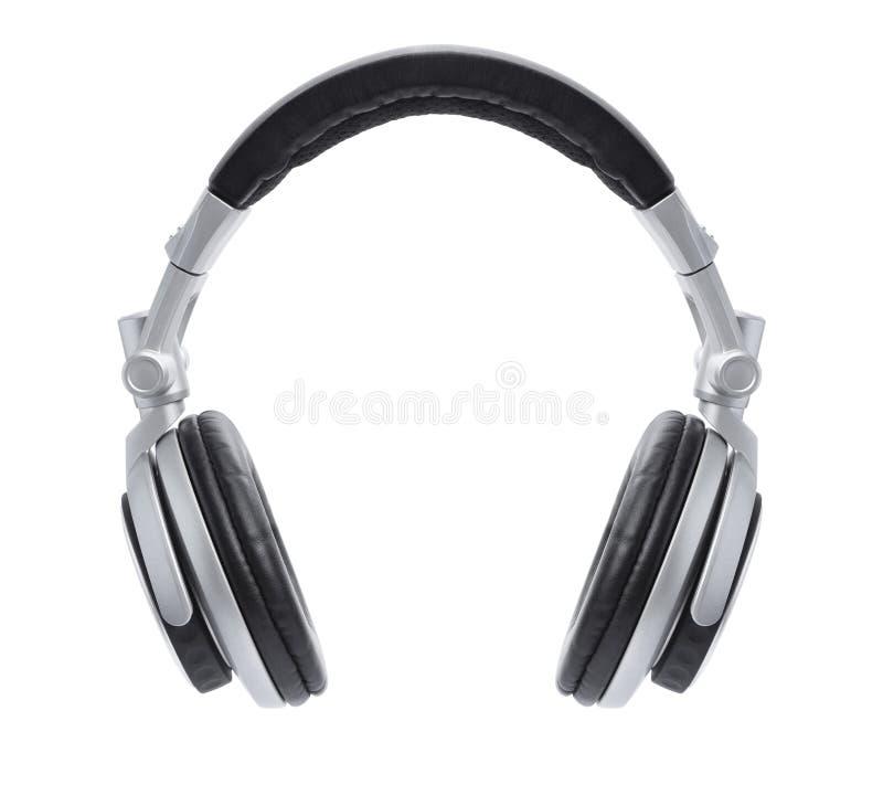 Eleganccy srebra DJ hełmofony obraz royalty free