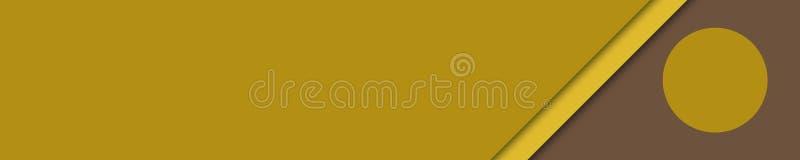 Eleganccy sztandaru koloru żółtego i brązu kolory dla strony internetowej royalty ilustracja