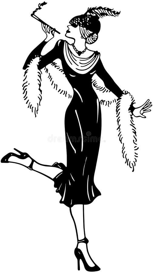 Eleganccy trzydzieści Gal royalty ilustracja