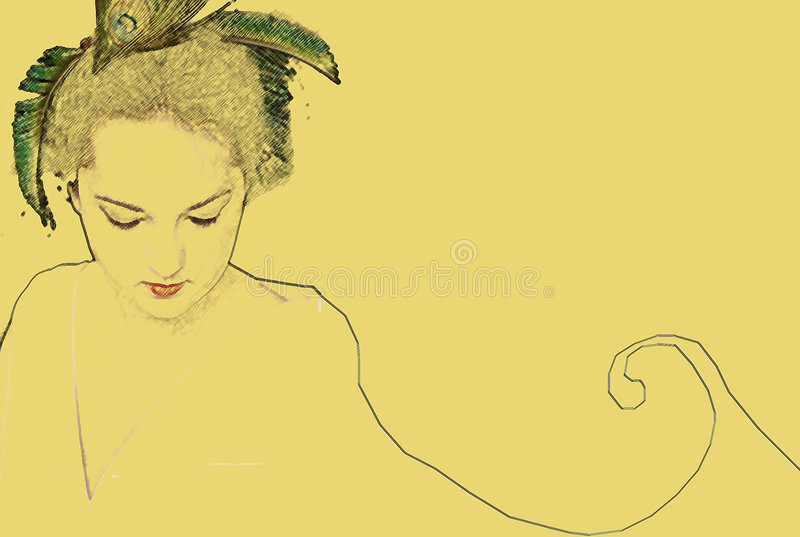 Elegance. Elagant woman, illustration stock illustration