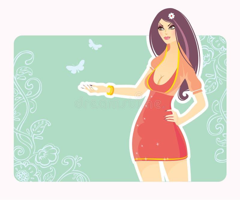 Download Elegance beauty girl stock vector. Illustration of background - 11177282