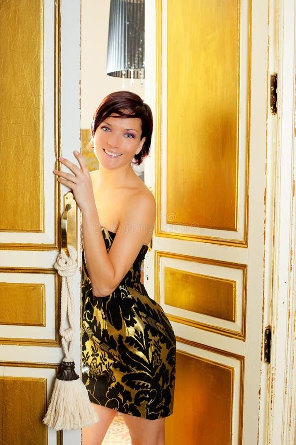 Download Elegance Fashion Woman In Hotel Room Door Stock Photo - Image: 23037550