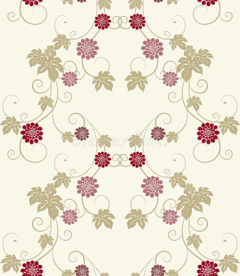 Download Elegance floral seamless. stock vector. Image of background - 19349024