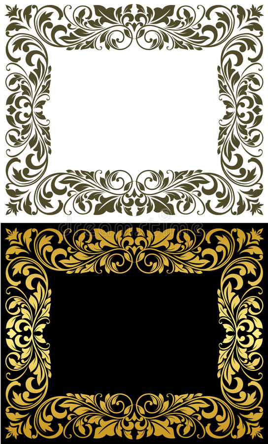 Free Elegance Frame In Floral Style Royalty Free Stock Images - 29446759