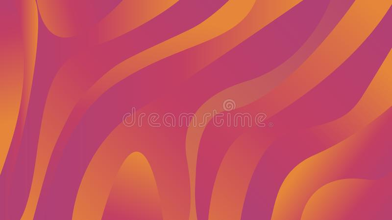 Elegance liquid abstract gradient geometric background. Colorful fluid shapes. Trendy gradient composition. Bright shapes with shadows. Elegance vector pattern royalty free illustration
