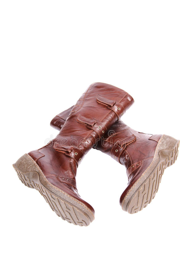 Download Elegance Modern Boots On A White. Stock Photo - Image: 11494836