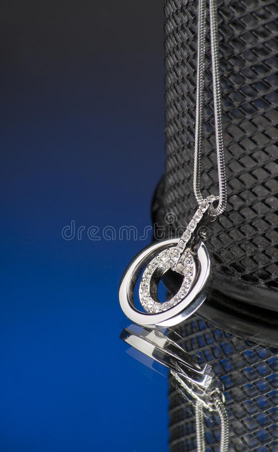 Download Elegance necklace stock photo. Image of black, circle - 15707508