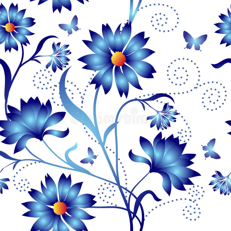Elegance Seamless color pattern royalty free illustration