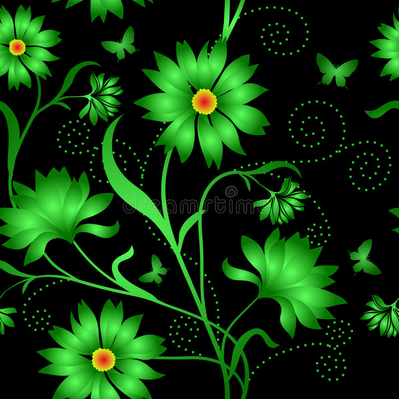 Elegance Seamless Color Pattern On Background Royalty Free Stock Photos