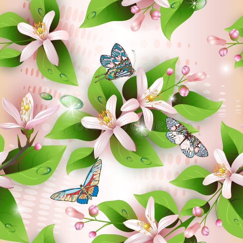 Elegance Seamless Flowers Pattern Stock Photos