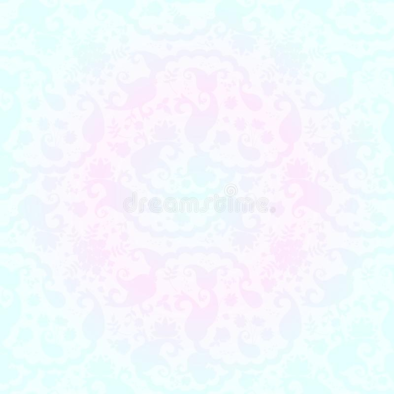 Elegance seamless paisley floral pattern in damask style vector illustration