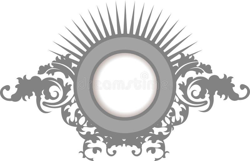 Download Elegance Silver Gray Floral Curves  Frame Stock Photo - Image: 15604310