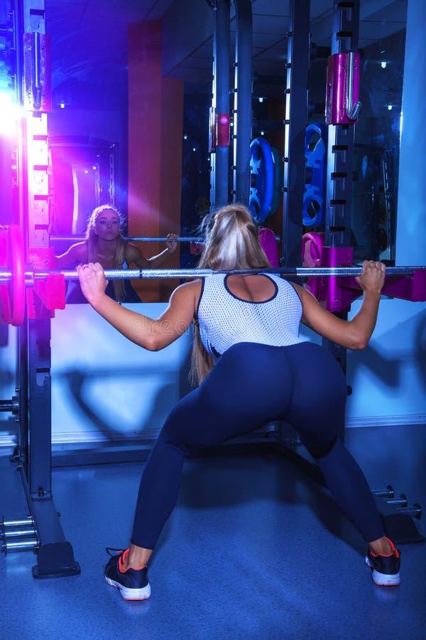 Elegance Sports Female Workout Stock Photo