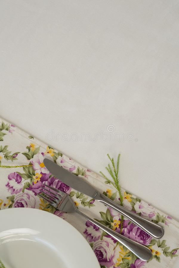 Elegance table setting royalty free stock images