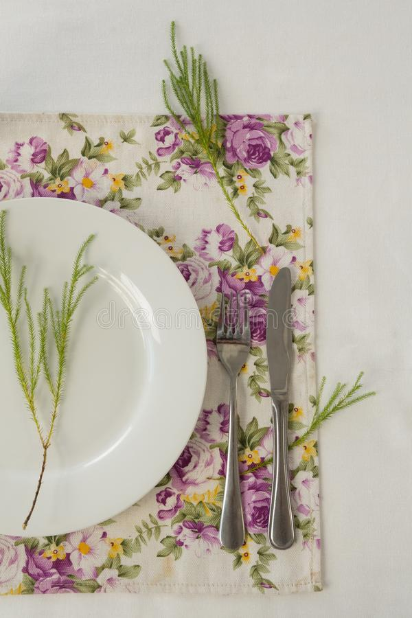 Elegance table setting royalty free stock photos