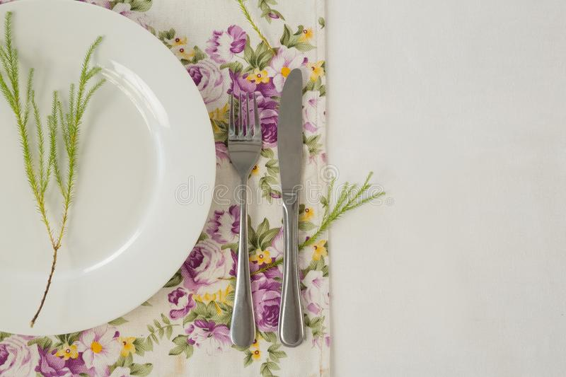 Elegance table setting royalty free stock image