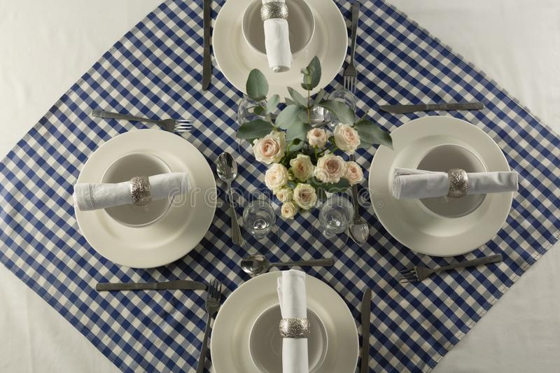 Elegance table setting on a table royalty free stock images