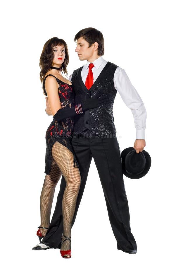 Elegance tango dancers stock images