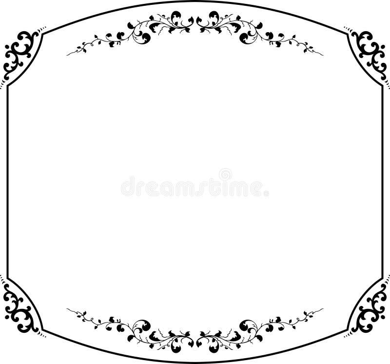 Elegance vector frame royalty free illustration