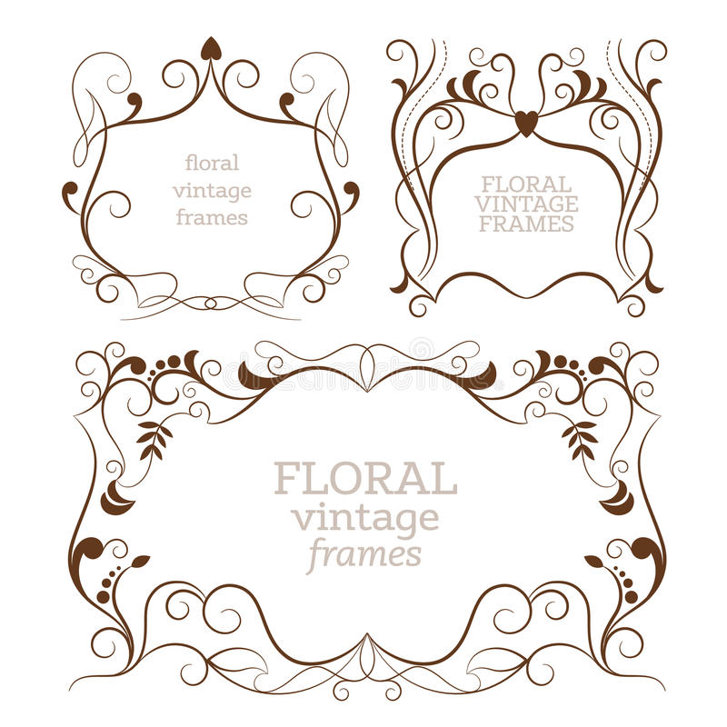 Elegance vintage frames royalty free illustration