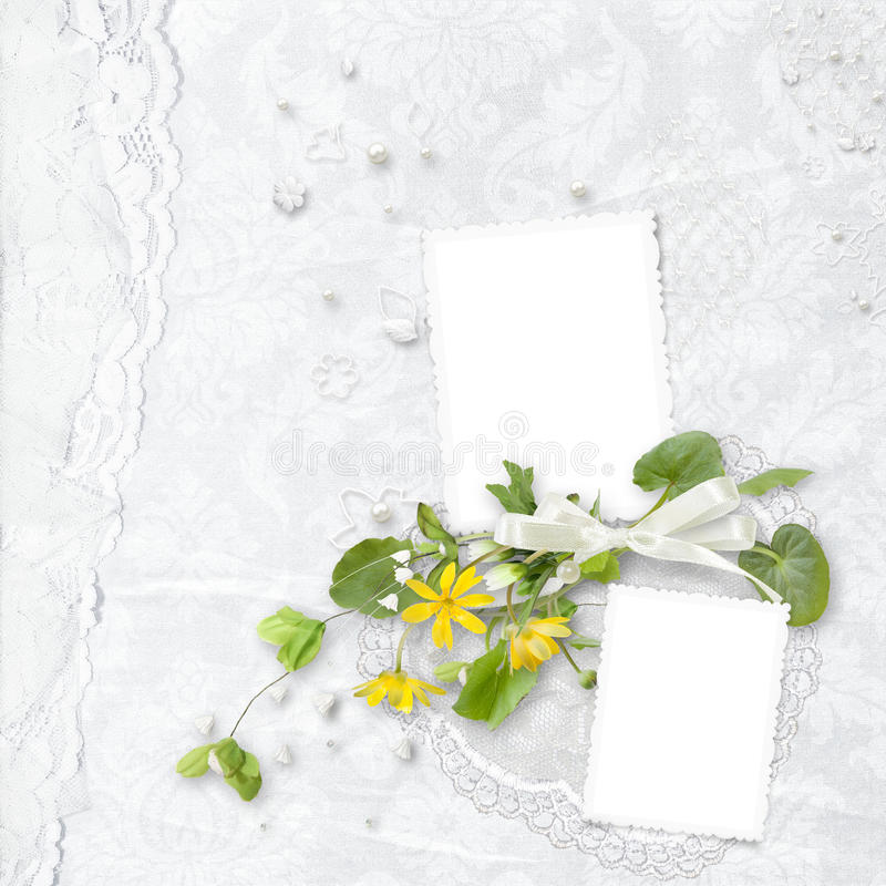 Download Elegance White Frame With Yellow Flowers Stock Image - Image: 20524389