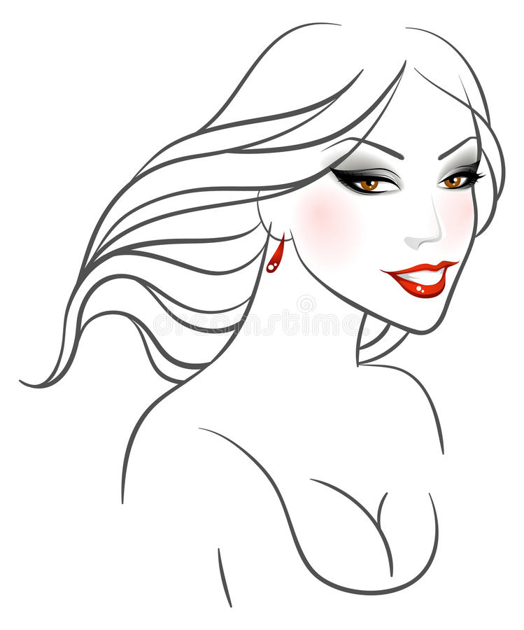 Download Elegance woman stock vector. Image of care, beauty, long - 18061742