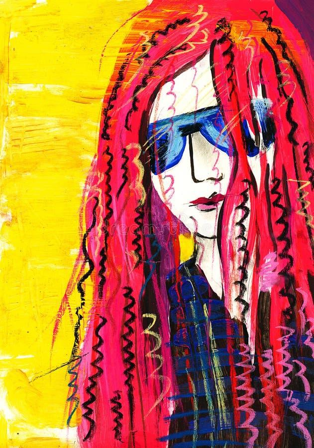 eleganci dziewczyn istoty ludzkiej portret ilustracji