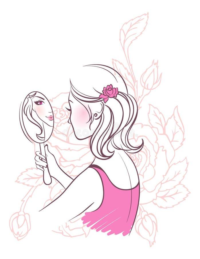 eleganci kobieta ilustracji
