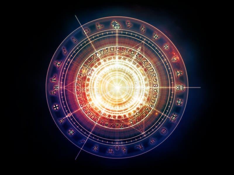 Elegancia de la geometría sagrada stock de ilustración