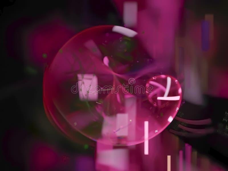 Elegancia digital abstracta del fractal, elemento moderno del poder de la plantilla brillante futura del color, futuro del hermos fotos de archivo