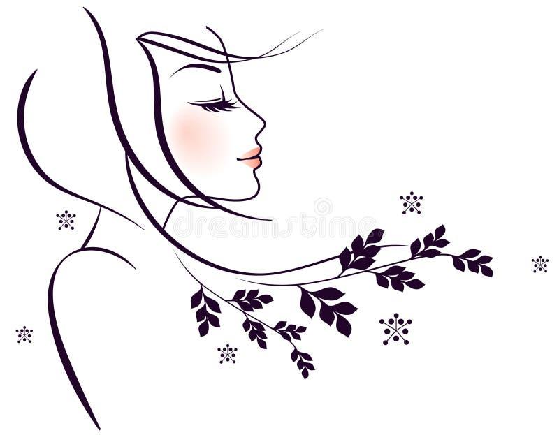 elegancj kobiety royalty ilustracja