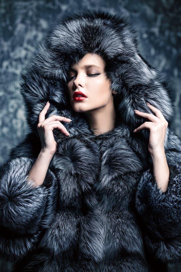 Elegancja w zimie odziewa obraz royalty free