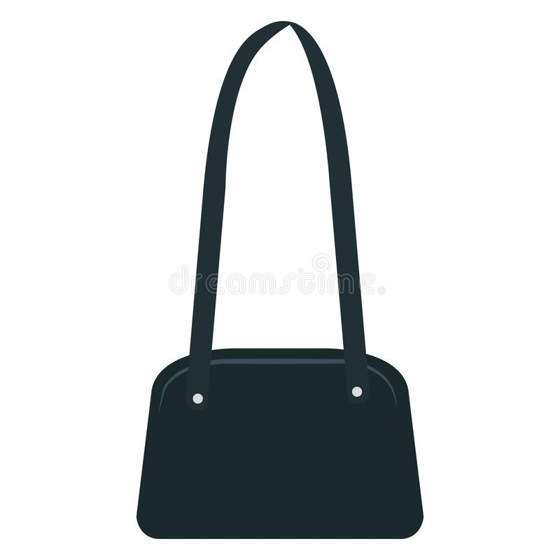 Elegancka żeńska torebki ikona ilustracja wektor