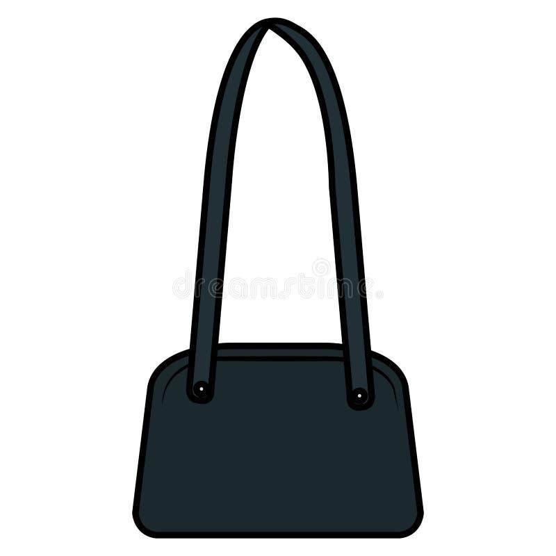 Elegancka żeńska torebki ikona ilustracji