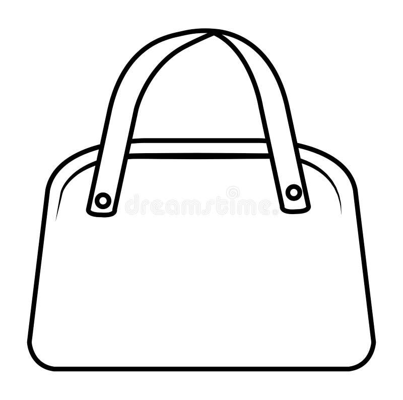 Elegancka żeńska torebki ikona royalty ilustracja