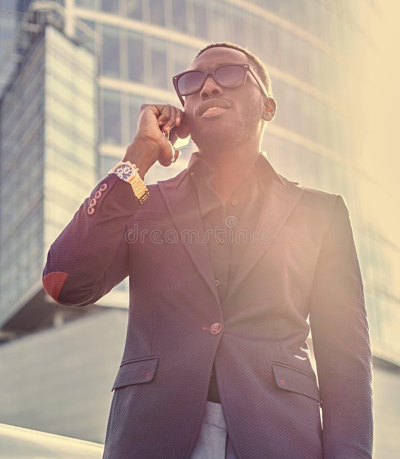 Elegancka czarna Amerykańska samiec zdjęcia stock